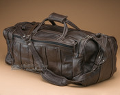 "Large Rustic Leather Duffle Bag 23"" -Dark Brown (b5)"