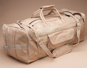 "Genuine Cowhide Leather Travel Bag 23"" -Tan (db9)"