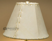 "Western Leather Lamp Shade - 8"" Natural Pig Skin"