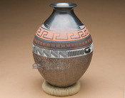 Black Etched Mata Ortiz Pottery Vase