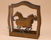 Metal Napkin Holder - Horses