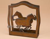 Metal Napkin Holder - Horses