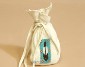 Native American Beaded Corn Pouch