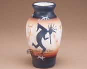 Southwest Painted Pottery Vase - Kokopelli