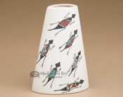 Native American Pueblo Pottery Vase - Lizards