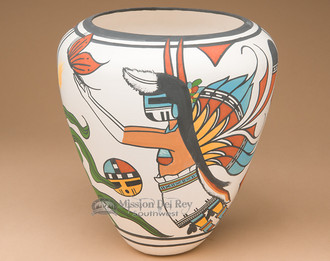 Beautiful Painted Acoma Pottery Vase