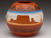 Etched Navajo Pottery - Monuments