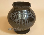 Black on Black Painted Mata Ortiz Pottery
