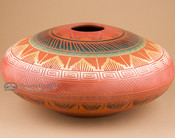 "Native American Navajo Etched Vase 10x5"" (p201)"