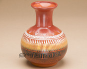 """Indian Pottery Etched Clay Vase 5"""" -Navajo"""
