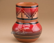 "Sioux Indian Spirit Vase 5.5"" -Glazed Lakota Red (282)"