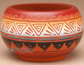 Navajo Etched Pottery Bowl