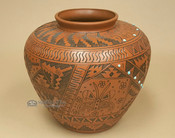 Etched Indian Pottery Etched Vase