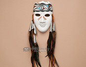 Tigua Painted Pottery Mask
