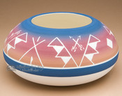 """Native American Indian Planter Vase 6""""3"""" -Sioux (p614)"""