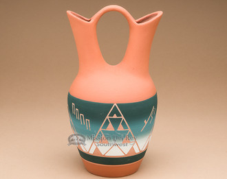 Native American Pottery Wedding Vase Sioux