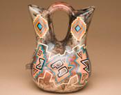 Hand Painted Hopi Horse Hair Wedding Vase