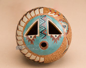 """Native American Pottery Vase 3.5"""" -Hand Tooled (77)"""