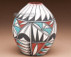 Tigua Painted Pottery Vase