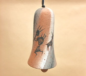 "Rustic Native American Pottery Wind Bell 7"" -Cave Art"