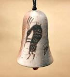 "Native American Navajo Clay Wind Bell 4.5"" -Petroglyphs (104)"