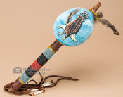 Native Gourd Rattle Painted Eagle