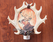 Southwestern Rustic Faux Antler Night Light -Deer (n9)