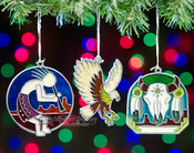 Set of 3 Sun Chaser Ornaments