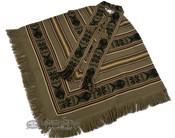 Otavalo Indian Woven Poncho -tan (p4)