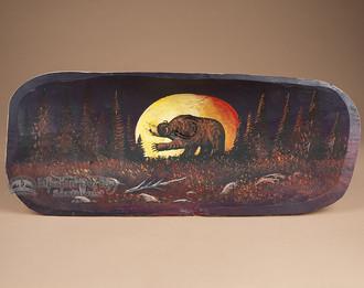 Painted Tarahumara Bowl - Moonlit Bear