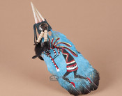 Native American Style Painted Feathers -Kokopelli