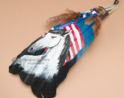 Native American Style Painted Feathers - (PF30)