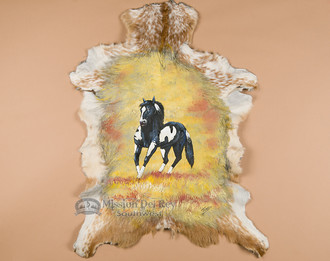 Hand Painted Goat Hide - Painted Pony