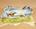Painted Western Cowhide - Stray