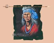 Indian arrow wall hanging with elder