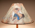 "Painted Leather Lamp Shade 18"" -Cowboy"