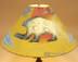 "20"" Painted Leather Lamp Shade -Spirit Bear"