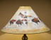 """22"""" Painted leather lampshade - Cattle Drive."""
