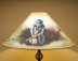 """24"""" Painted Leather Lamp Shade -Cowboy"""