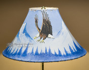 "Painted Leather Lamp Shade 16"" -Eagle (PL99)"