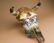 Painted Steer Skull - Cattle Drive