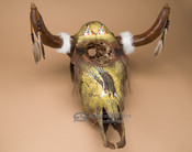 Painted Steer Skull Dreamcatcher - Eagle