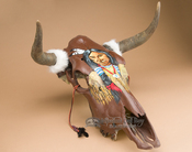 Hand Painted Steer Skull - Indian