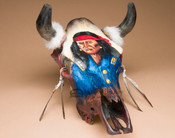 Hand Painted Western Steer Skull -Army Scout