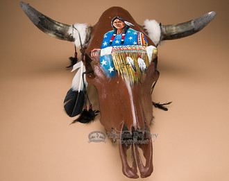 Southwest Painted Skull - Indian