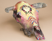 Hand Painted Steer Skull - Kokopellis