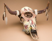 Painted Skull with Dreamcatcher - Southwestern
