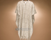 Southwestern Buttoned Wool Cape -Plaid (c8)