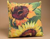 "Indoor Outdoor Climaweave Pillow 18"" -Sunflowers"