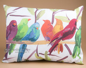 Outdoor Climaweave Pillow 24x18 -Flocked Together